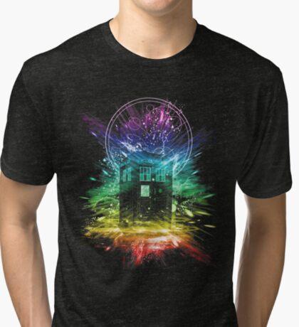 time storm-rainbow version Tri-blend T-Shirt