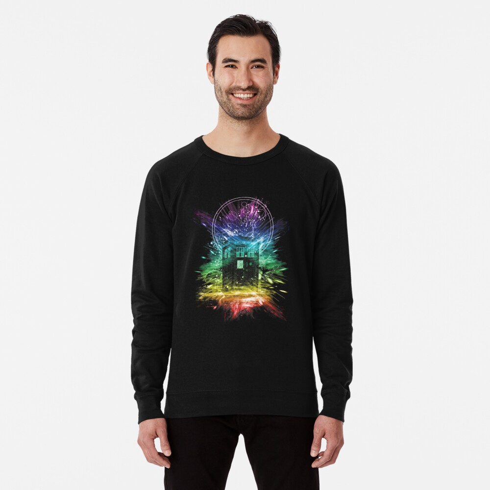 time storm-rainbow version Lightweight Sweatshirt