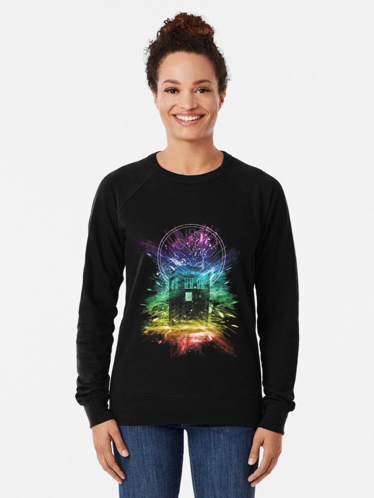 Alternate view of time storm-rainbow version Lightweight Sweatshirt