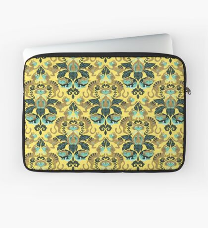 yellow damask cats Housse de laptop