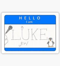 luke girl name tag (horizontal) Sticker