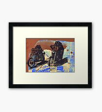 easy rider silkscreen brown Framed Print
