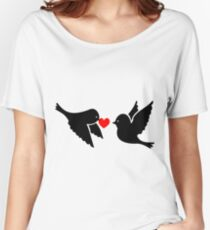 Valentine Love Birds Women's Relaxed Fit T-Shirt