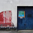 Blue Door / Red Wall by Adam Wain
