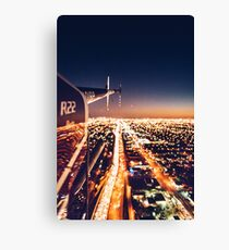 miami night view from helicopter Canvas Print