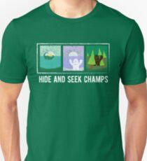 Hide and Seek Champions Funny Bigfoot, Sasquatch, Yeti, Lochness Sea Monster, Nessie Funny Graphic Tee Shirt T-Shirt