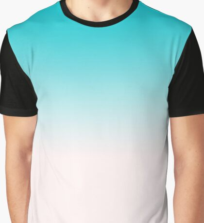 Ombre in Blue Graphic T-Shirt