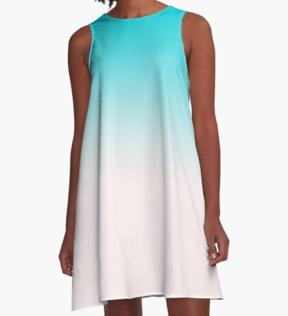 Ombre in Blue A-Line Dress