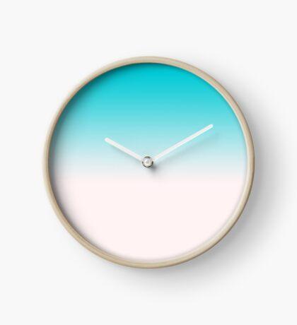 Ombre in Blue Clock