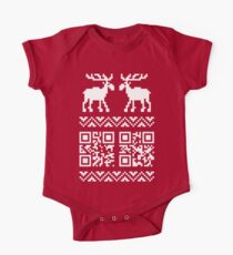 Ugly Christmas Sweater QR Code Happy New Year ! Kids Clothes