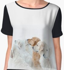 golden retrievers Chiffon Top