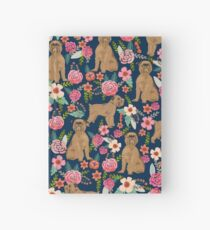 Brussels Griffon florals pattern for dog lovers custom pet friendly gifts for all dog breeds by PetFriendly Hardcover Journal