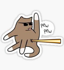 Cat Butt Laser Sticker