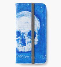 Rene Descartes in oil skull!  iPhone Wallet/Case/Skin