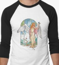 Angel of Spring Mucha Inspired Art Nouveau Angels of the Seasons Series T-Shirt