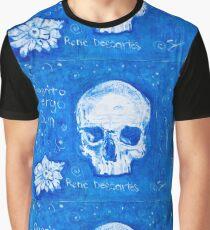 Rene Descartes in oil skull!  Graphic T-Shirt