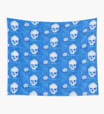 Rene Descartes in oil skull!  Wall Tapestry