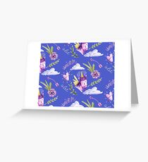 Cute watercolor unicorns Greeting Card