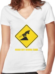 Mass effect Mako skydiving team Women's Fitted V-Neck T-Shirt