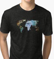 Space Continents Tri-blend T-Shirt