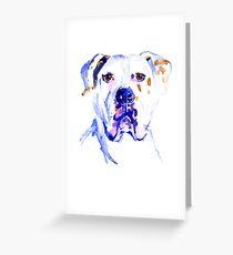 Watercolor American Bulldog  Greeting Card