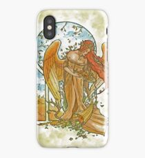 Angel of Autumn Mucha Inspired Art Nouveau Angels of the Seasons Series iPhone Case