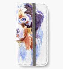 Watercolor Australian shepherd iPhone Wallet/Case/Skin