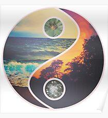 Nature Yin Yang Poster