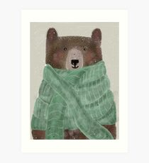 this scarf is just right Art Print