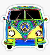Peace Bus - Psychedelic Sticker