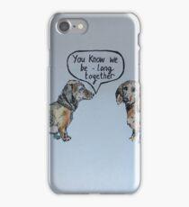 Sausage dog romance iPhone Case/Skin