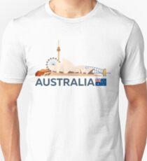 Travel to Australia, Sydney skyline Unisex T-Shirt