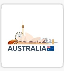 Travel to Australia, Sydney skyline Sticker