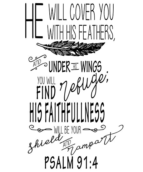 psalm 91 4 christian bible scripture verse posters by jakerhodes