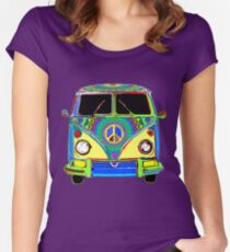 Peace Bus - Psychedelic Women's Fitted Scoop T-Shirt