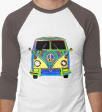Peace Bus - Psychedelic Men's Baseball ¾ T-Shirt