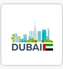 Travel to UAE, Dubai skyline Sticker