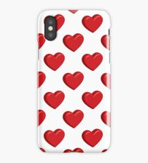 Red volumetric hearts iPhone Case/Skin