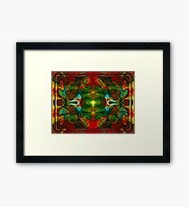 Nuclear Emotions Abstract Symbol Artwork  Framed Print