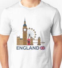 Travel to England, London skyline. Big Ban Unisex T-Shirt