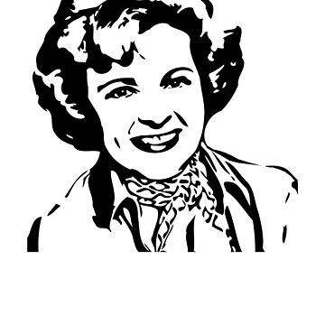 Betty White Stencil by astropop