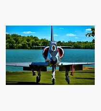Marines A4L Skyhawk at the Golf Course Photographic Print