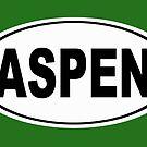 Aspen Colorado Oval Design by KWJphotoart