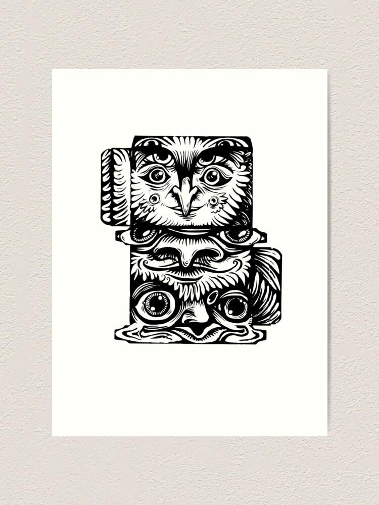 Alternate view of Strange Totem Art Print