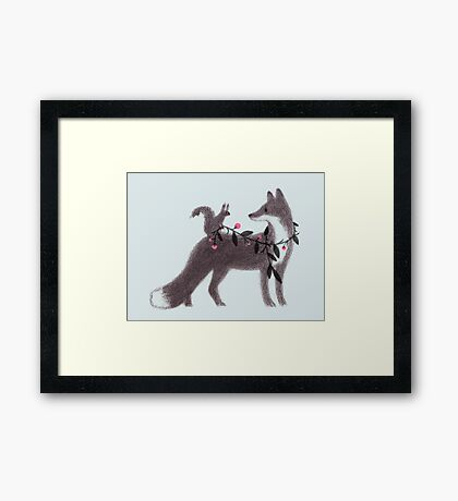 Squirrel and Fox Framed Print