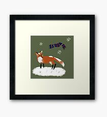 Frederick the Fox in the Snow Framed Print