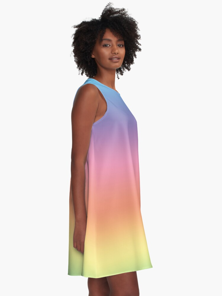 Alternate view of Ombre Pastel by Julie Everhart A-Line Dress
