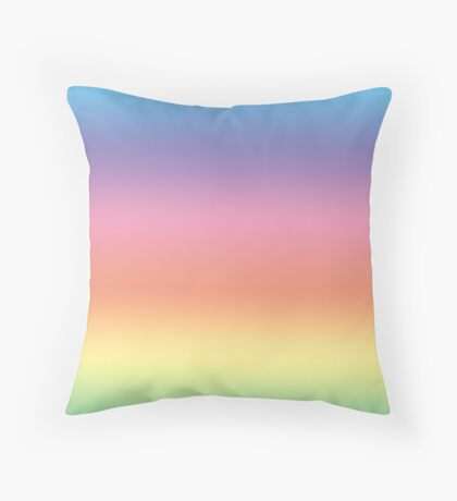 Ombre Pastel by Julie Everhart Throw Pillow