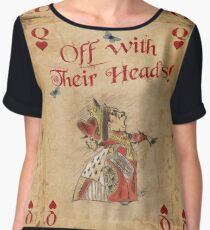 Alice in Wonderland, The Queen Of Hearts Women's Chiffon Top