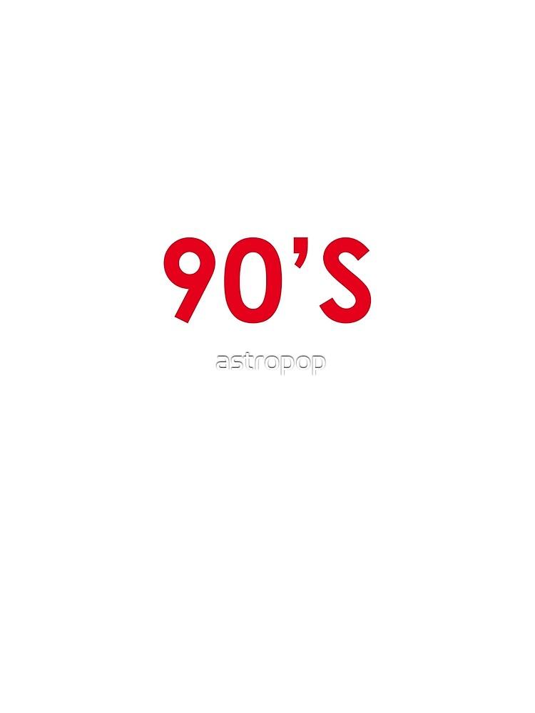 «I Miss 90s Hip Hop» de astropop